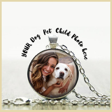 SG 925 sterling silver personalized Round necklace custom People/pets picture necklace pendant jewelry for mom&women gifts цена 2017