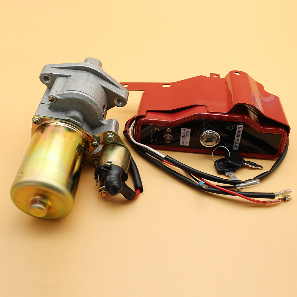 цена Starter Motor Solenoid Ignition Switch Box with Keys Fit HONDA GX340 GX390 GX 340 390 11hp 13hp Gas Engine Generator Water Pump
