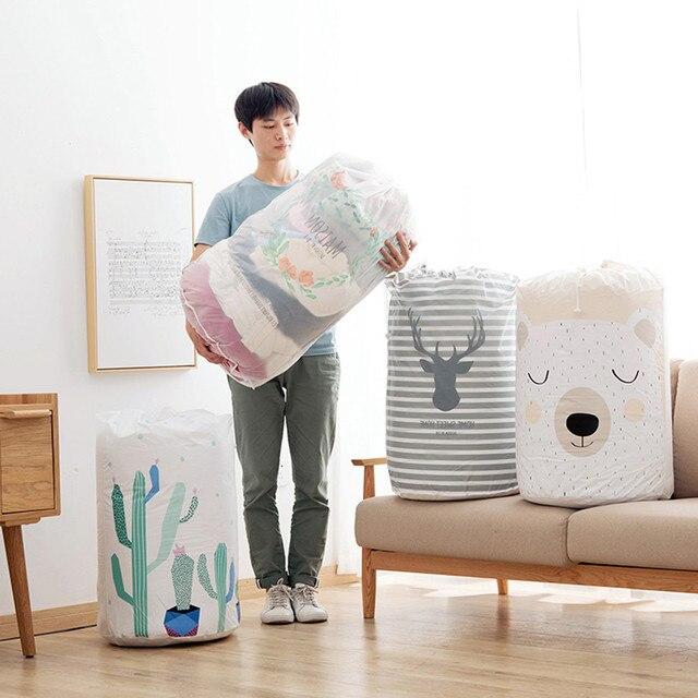 Foldable Storage Bag Clothes Blanket Quilt Closet Sweater Organizer Box laundry storage basket panier de rangement wholesale