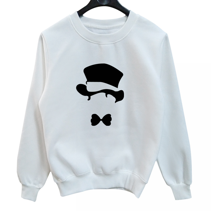 La MaxPa Gentleman Hat Printed Sweatshirts Comic Crewneck Sweatshirt Animal Print Hoodies Funny Mens Sweat Shirt Casual Cotton