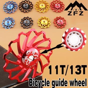 MUQZI Bicycle Ceramic Guide Pulley 7075 Aluminum Alloy Rear Derailleur 11T/13T MTB Road Bike Guide Ceramics Bearing Jockey Wheel цена 2017