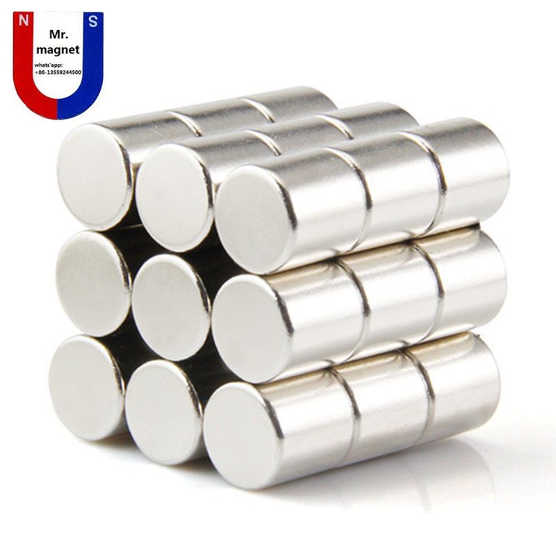 1pc diameter 30x 30mm magnet  NdFeB strong magnetic material, powerful magnets 30*30mm cylinder Dia. 30x30mm 1pcs d25 300mm magnetic bar 12000 gauss strong magnetic bar magnet strong magnetic frame iron material removal