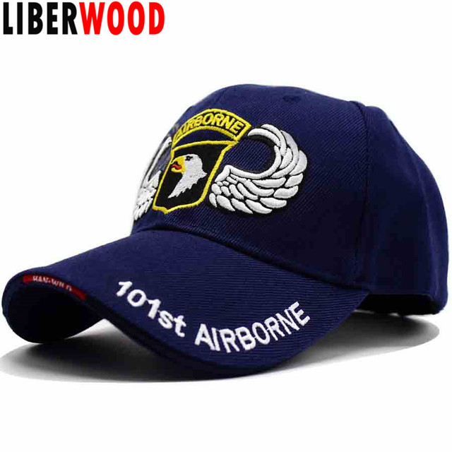 LIBERWOOD U.S. Army 101st Airborne Division hat cap Screaming Eagles Air  Force caps Tactical Operator hats Men Embroidery black 670e67199465