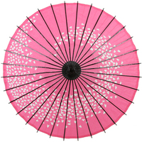 Chinese Style Classical Process Paradise Umbrella Style Series Oil Paper Umbrella Show Cosplay Dance Prop Umbrella Pink