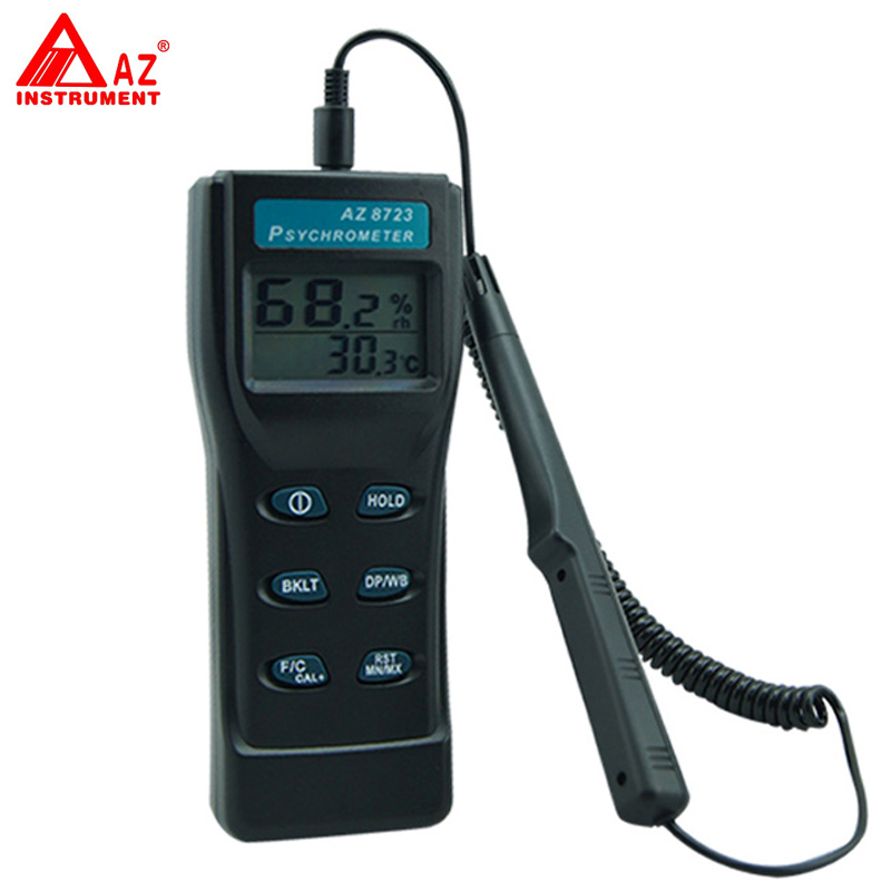 AZ-8723 Handheld Temperature,Humidity,Dew Point Meter,Wet Bulb Temperature Humidity Tester fast shipping az8723 temperature humidity dew point meter wet bulb temperature and humidity az 8723