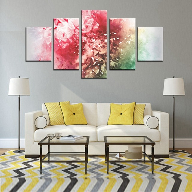 Fireworks Abstract Canvas Painting for Living Room Wall Decor ...
