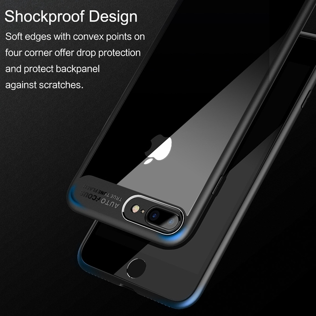 ROCK Slim Case for iPhone 7 6 6s plus, Transparent PC & TPU Silicone for iPhone Cover Coque for iPhone7 Case