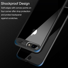 ROCK Slim Case for iPhone 8 7 6 6s plus, Transparent PC & TPU Silicone for iPhone Cover Coque for iPhone7 Case
