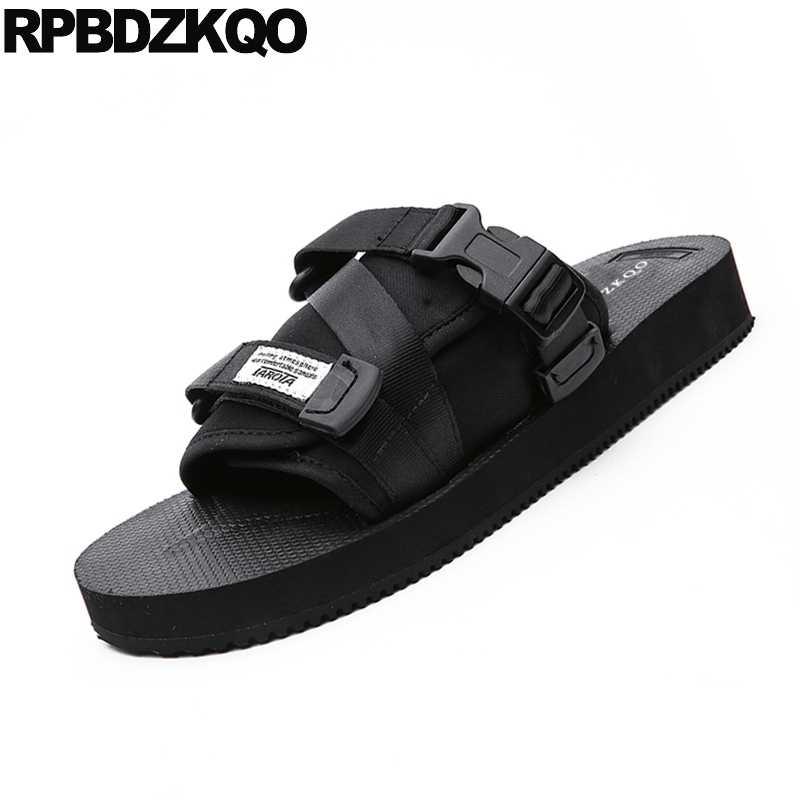 Los hombres sandalias de verano romano nativo Correa Zapatos Zapatillas de playa casual famosa marca de loop diapositivas diseñador italiano de malla