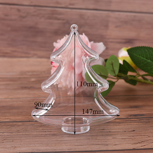1X Clear Plastic Bath Bomb Molds DIY Fizzy Sphere Tree Shape Ball Chocolate Plastic Transparent Bath Bomb Mould