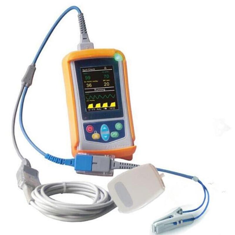 Handheld Monitor de EtCo2 Co2 Monitor Healthecare Spo2 e Etco2 Capnógrafo Monitor com Sidestream para uso Veterinário