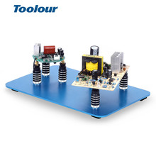 Toolour Removable Magnetic PCB Circuit Board Fixed Fixture Soldering Third Hand Welding Station Soldering Holder Repair Tools car folding key pcb repair fixture pcb holder work station platform fixed support clamp steel pcb board soldering repair holder