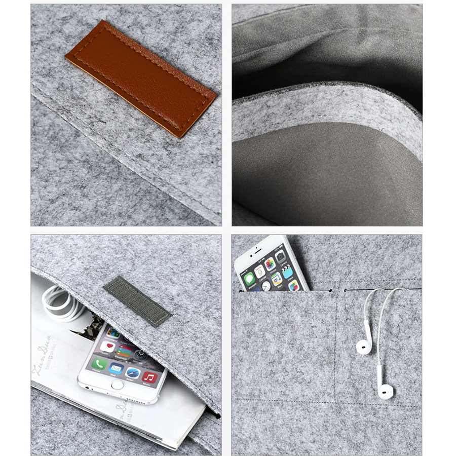 Image 5 - Wool Felt Slim Sleeve Notebook Bags For Macbook Pro Retina 11 13 15 Case For Xiaomi Air 12.5 13.3 15.6 Surface Laptop 13.5 Cover-in Laptop Bags & Cases from Computer & Office