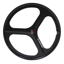 Magnesium Alloy  wheel 700C bike 3 spokes fixie Bicycle Mag TRI front rear Fixed gear wheels Rims