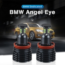 цены на DXZ 2PCS 80W H8 Angel Eyes 360-Degree Halo Ring Light White High Power Bulbs for BMW E90 E92 E93 X5  в интернет-магазинах