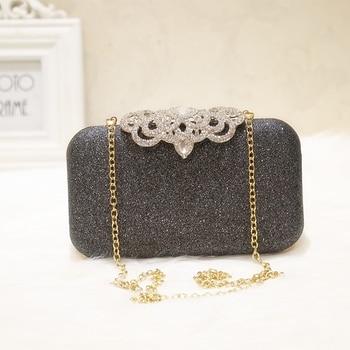 New fashion Sequined Scrub Clutch Women's Evening Bags Bling Day Clutches Gold Wedding Purse Female Handbag 4