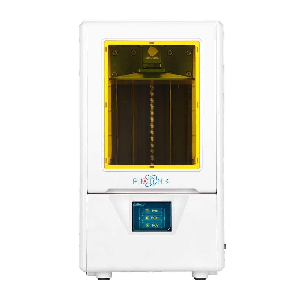 Anycubic Foton-S Kit 3D Printer dengan Resin Sinar UV SLA 2K Layar 2019 Desktop 3D Printer Imprimante 3D