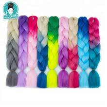 Luxury 60cm 24inch Ombre  Jumbo Synthetic Braiding Hair Crochet Blonde Pink Blue Grey Extensions Braids