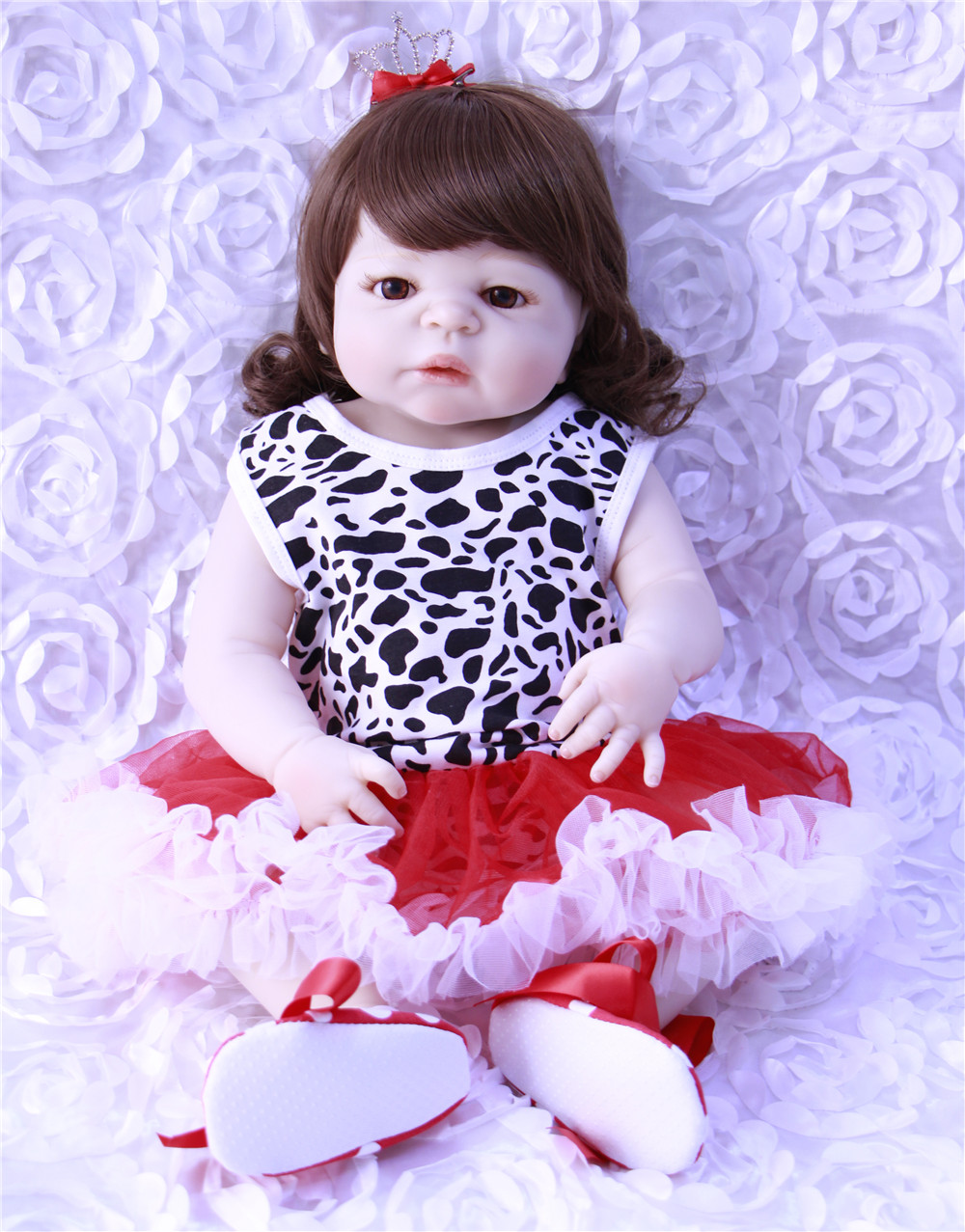 Adorable Dollmail 55cm Bebe Reborn Girl Doll Handmade Full Silicone Reborn Baby Doll Bonecas In Fashion Clothes Toys For Girls