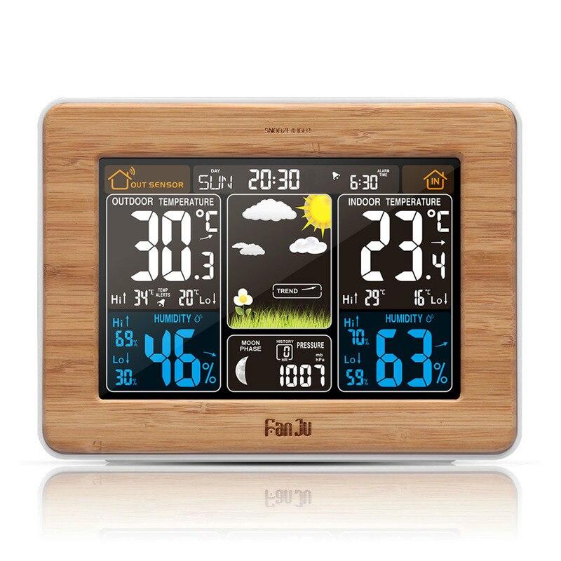 Station météo couleur horloge numérique température humidité capteur baromètre prévision bureau Table LED réveil