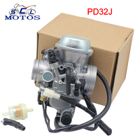 Sclmotos 32mm PD32J Motorcycle Carburetor for ATV Quad ATC250 TRX300 TRX300FW TRX350 TRX 350 Rancher 350 1988 2000 KLF300 Race
