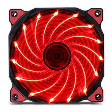 4 Color LED PC Computer Case Heatsink Cooler Cooling Fan DC 12V 4P 3P 120mm 120*120x25mm Red Green White Blue
