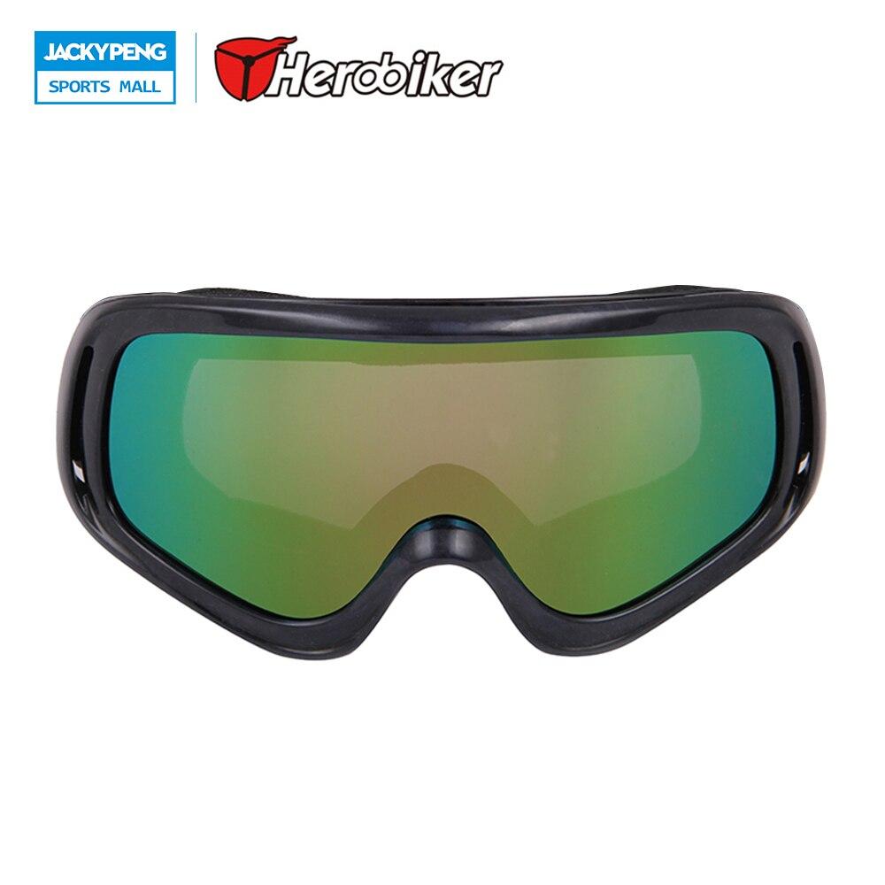 Herobiker мотоцикле очки Мотокросс внедорожных Байк скоростной спуск очки Лыжные Сноуборд ветрозащитный очки