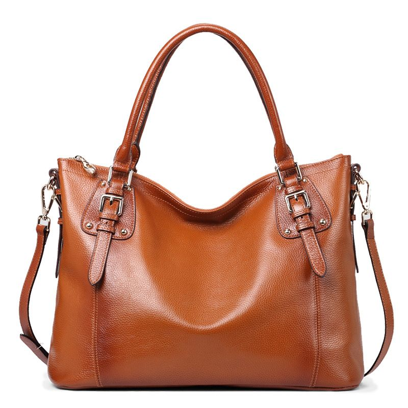 100% Genuine Leather Women Bag\Handbag Luxury Fashion Retro Tote Bag Cowhide ladies' Shoulder bag\Messenger Bag Big Capacity luxury genuine leather bag fashion brand designer women handbag cowhide leather shoulder composite bag casual totes