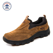 2016 New Promotion Brand Medium b m Rubber Outdoor Shoes Hiking Trekking Genuine Boots Men Mountain