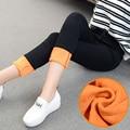 Alpaca Cashmere Macio Elasticidade Cintura Alta Calças de Veludo Quente calças de Brim das mulheres de Inverno Engrossar jeans Pretos Femininos Inverno Plus Size