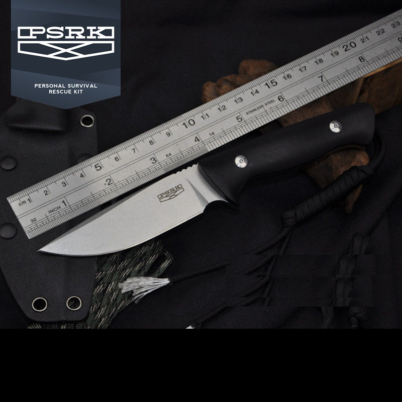 где купить PSRK New Arrival DC53 Steel Blade G10 Handle Fixed Knife Tactical Outdoor Small Knife Hunting Camping Survival Cutting Tool по лучшей цене