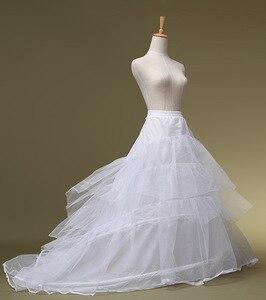 Image 1 - EZKUNTZA High grade Wedding Dress White Petticoat Elastic Band Lace Up Big Train Bride Petticoat 2019 New Wedding Accessories L