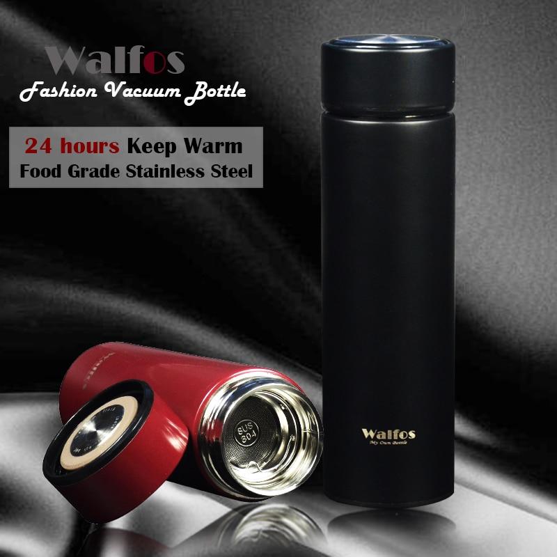 WALFOS 500ml Thermal Cup Stainless Steel Liner Vacuum Bottle Flask Tumbler Water Bottle car tea coffee Cup Thermos Travel Mug