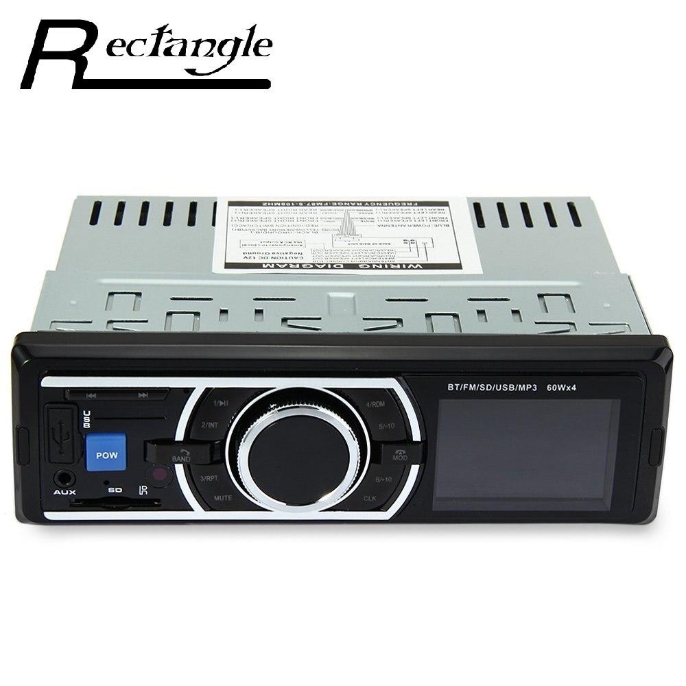 Profesional 12 V Coche Reproductor de Audio Estéreo En el Tablero de Radio FM MP