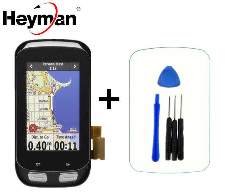 Heyman D'origine LCD pour GARMIN EDGE 1000 LCD Affichage à L'écran Tactile Digitizer Verre Remplacement avec Cadre vélo GPS