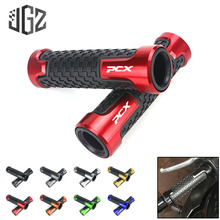 Buy Motorcycle Universal CNC Aluminum 22mm Handlebar Hand Grips Rubber Gel Handle Grip for Honda PCX 150 125 Modified Accessories directly from merchant!