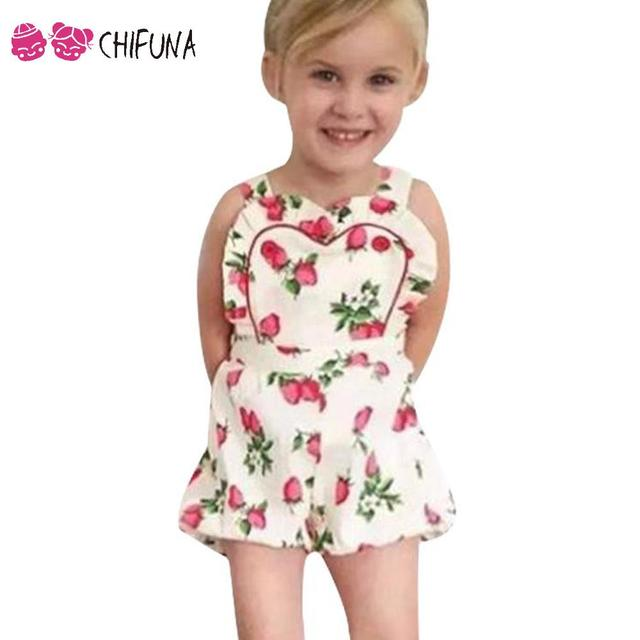 f24f8f7180a Baby Rompers Kids Girls Strawberry Pattern Jumpsuit Toddler Girls Clothing  Newborn Baby Wear Infant Kids Costume Romper