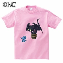 2019 Summer T-Shirts For boy New Fashion children Short Sleeve Tshirt Cotton T Shirts boys How To Train Your Dragon T-shirt MJ
