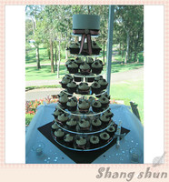 7 Tier Round Acrylic Cupcake Stand Tower Wedding Birthday Party Cake Cup Display Clear Holder Candy