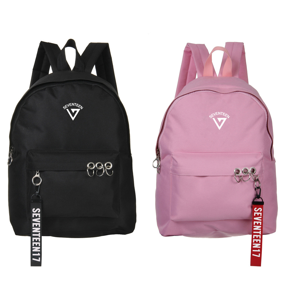 Seventeen Pinted Korean Stars Fans Backpack School Bags Mochila Travel Bags Laptop Chain Backpack Headphone Usb Port Luggage & Bags Men's Bags
