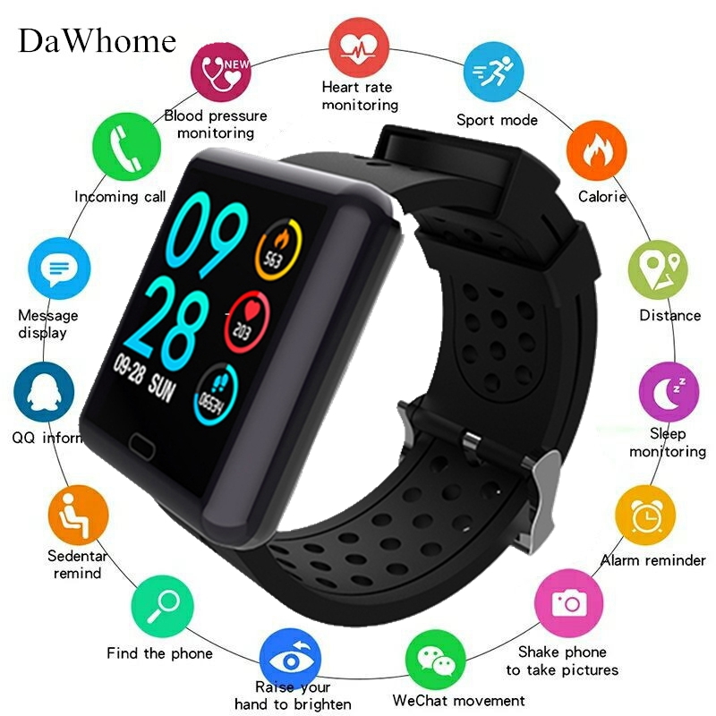 New Women Men Smart Watches Waterproof Sport For IOS Android Phone Smartwatch Heart Rate Monitor Blood Pressure Functions