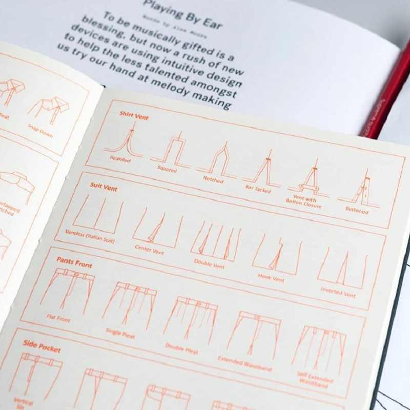 A5 Mens Edition Fashion Design Sketchbook With 400 Figure Templates And Dictionary