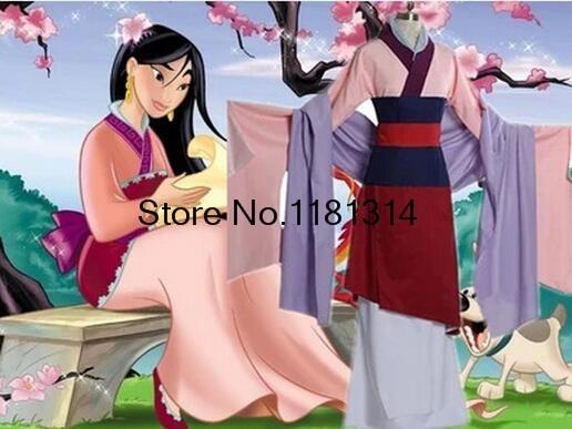 Chinese Tang Ruqun Hanfu Women Mulan Dress Full Set Halloween Party Cosplay Costume Outfit Mulan cosplay XXS 2XL