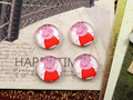 Hot Sale 20pcs 12mm Handmade Pig Style Photo Glass Cabochons  (E6-07)