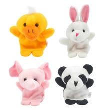 10pcs/set Cartoon Animal Finger Puppet Toys