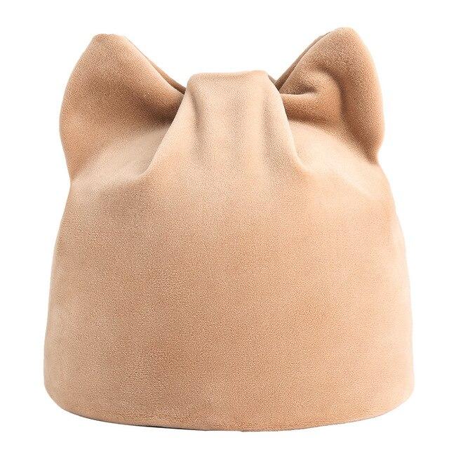 735cec0024f PADEGAO velvet double-deck winter warm hat female skullies cap women s winter  hats cat ears beanie