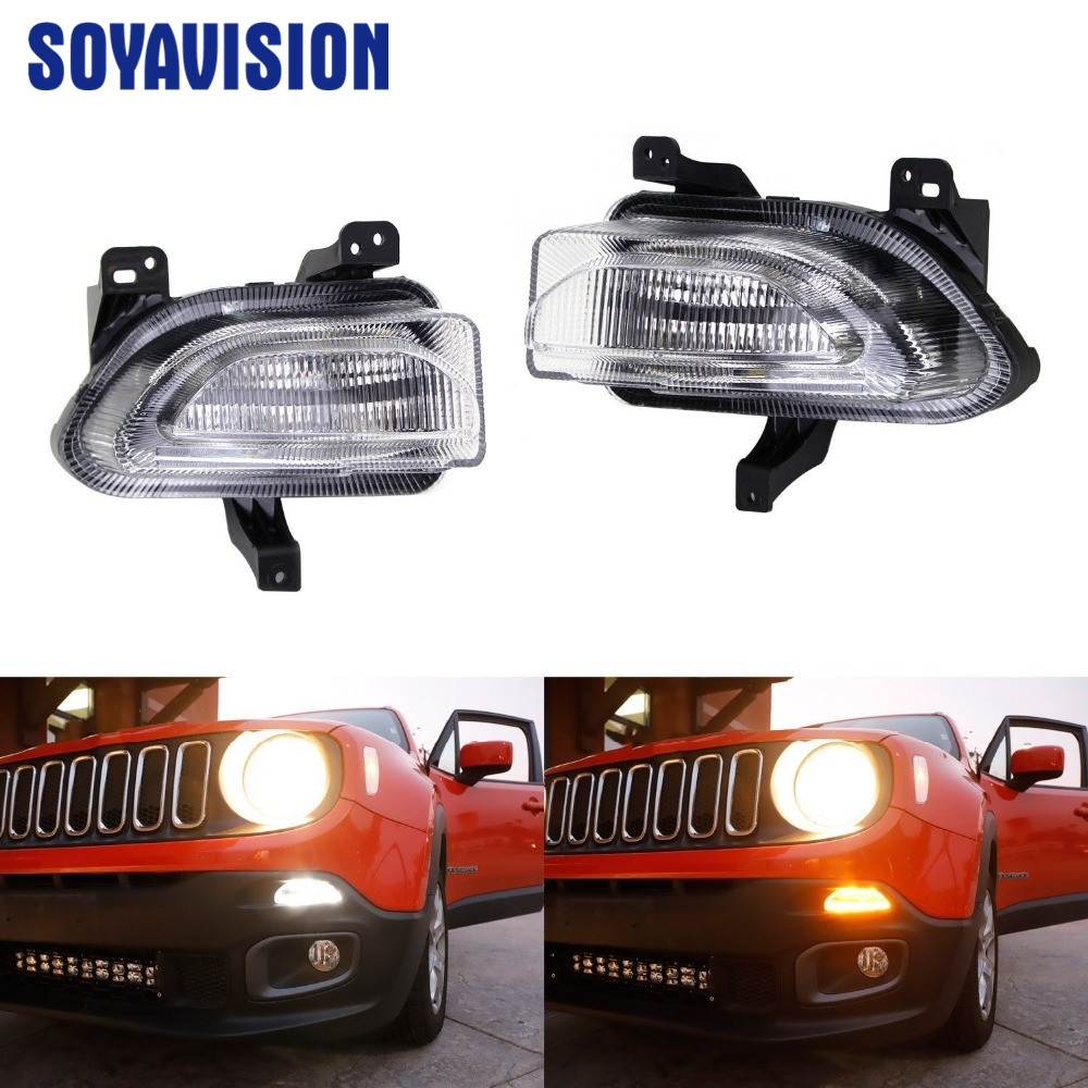 Led Turn Signal Lamp Daytime Running Light Drl For Jeep