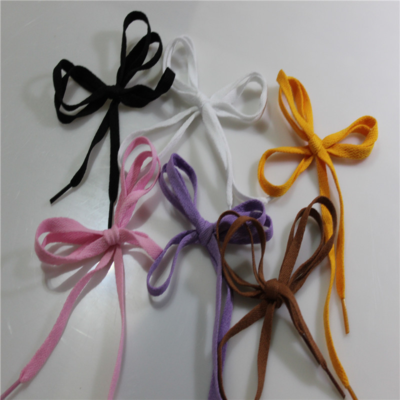 1 PAIR 6 COLORS Shoelace Athletic Sport Sneakers Flat Shoelaces Bootlaces Shoe laces Strings ASL663B