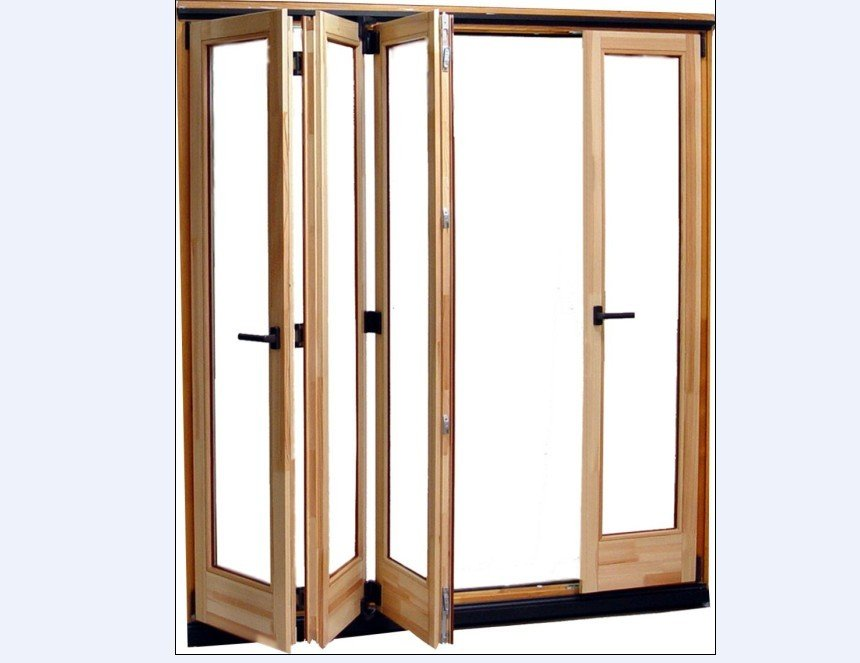 Wooden Accordion Doors : Wooden folding door in doors from home improvement on