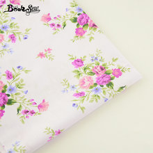 Booksew Home Textile Printed Flower Design 100% Cotton Twill Fabric For Patchwork Bedding Pillow Baby Doll Sewing Cloth Tecido(China)